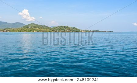 Beautiful Nature Landscape Of Sky And Blue Sea In Summer At Ko Pha Ngan Island In Gulf Of Thailand I