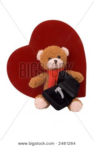 Teddy Bear With Engagement Ring