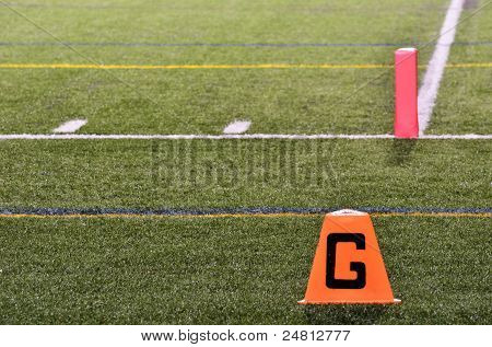Goal Line On American Football Field