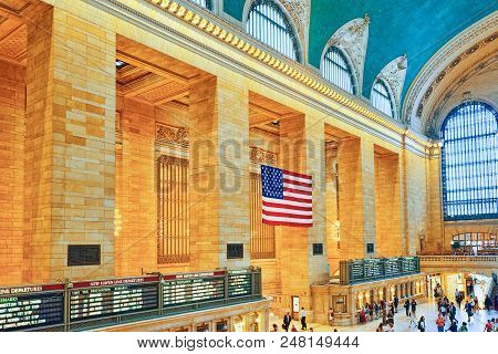 Grand Central Terminal- Railroad Terminal  In New York City, United States.
