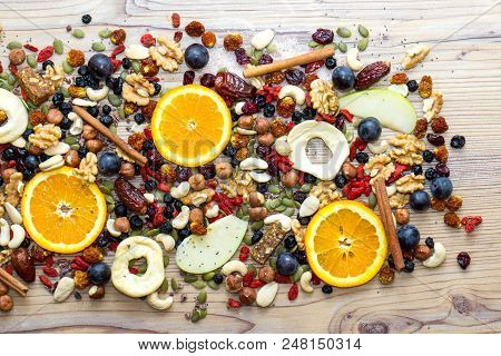 Background  Texture Healthy Food And Energetic Lifestyle Concept