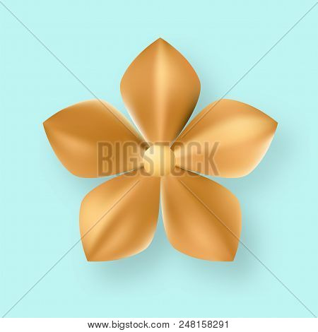 Gold Pattern Impossible Flower Metal Isolated On Background (vector Illustration)