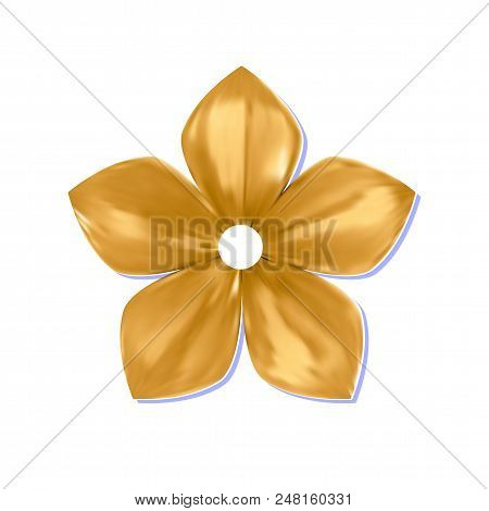 Gold Pattern Impossible Flower Metal Isolated On White Background (vector Illustration)
