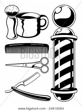 Barbershop Illustrations Set
