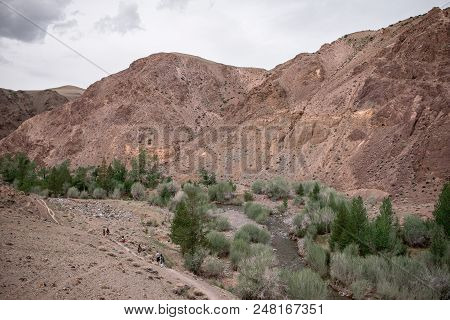 Altay Red Mars Mountains In River Valleys