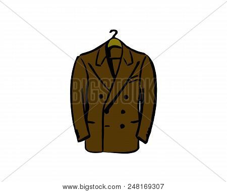 Suit Vector Icon On White Background. Suit Modern Icon For Graphic And Web Design. Suit Icon Sign Fo