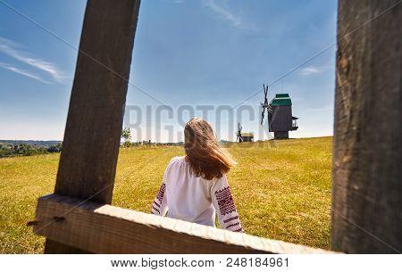 Ukrainian Woman In Ethnic Costume