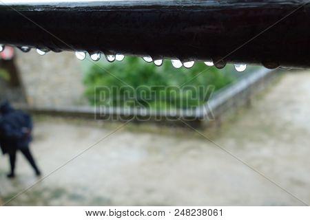 A Rain Drop Outdoors In A Non-urban Scene Day.