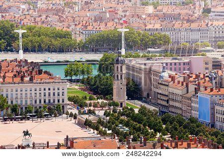 Lyon's Pedestrian Square Place Bellecour, France