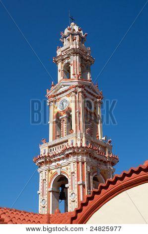 Bell Tower Of Panormitis Monasteri, Symi, Greece