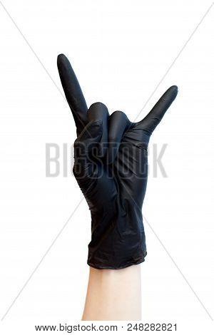 Rock Sign Made Black Image Photo Free Trial Bigstock