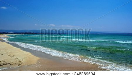 Landscape With Sand Al Khiyam And Sour Beach In Tyre, Lebanon