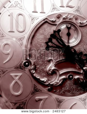 Sepia Grandfather Clock