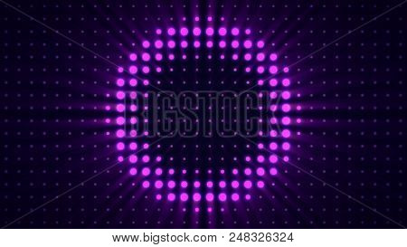 Spotlight And Wall Dance. Stage Lights In Concert Hall Scene Light Flashing Wall Strobes Lights Foot