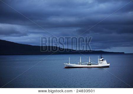 ship near Faroe islands
