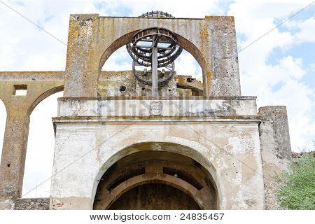 Arabic mill wheel (nora), Serpa, Alentejo, Portugal poster