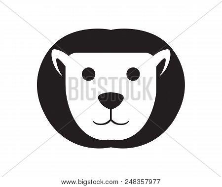 Lion Head Logo Template Animal Mamals Vector