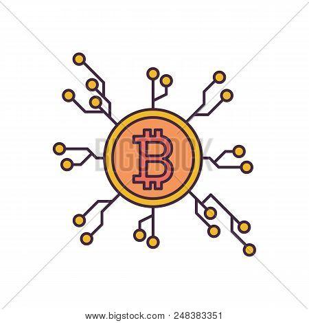 Crypto Distribution Icon. Cartoon Illustration Of Crypto Distribution Vector Icon For Web And Advert