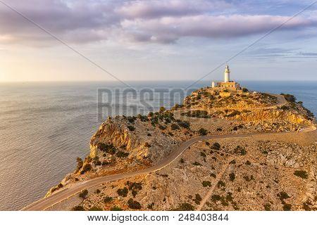 Majorca Mallorca Cap Formentor Landscape Nature Mediterranean Sea Balearic Islands Spain Copyspace T
