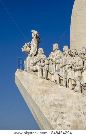 Lisboa, Portugal August 2013: Monument To The Discoveries Is A Monument On The Northern Bank Of The