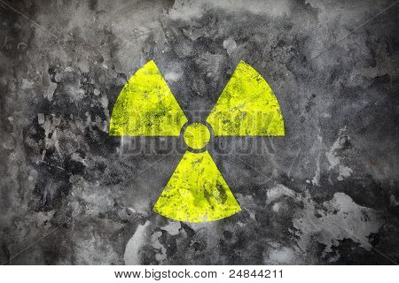Radiation Sight On Grey Wall