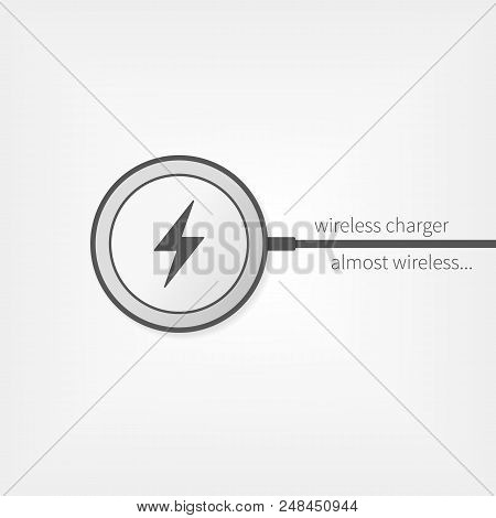 Wireless Charger Vector Icon. Almost Wireless Device