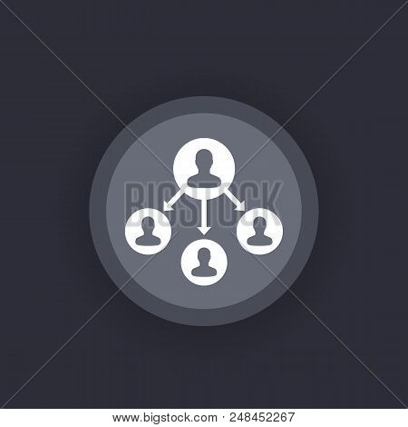 Delegation Vector Round Icon, Eps 10 File, Easy To Edit