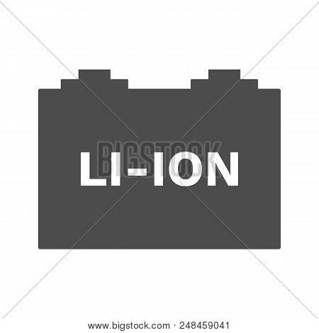 Li-ion Car Battery Icon. Lithium-ion Symbol. Vector.