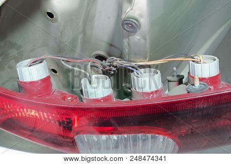 Tail Light Assembly Car With Station Wagon, Removed From The Body For Technical Service And Replacem