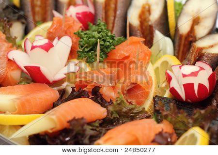 Smked fish platter.