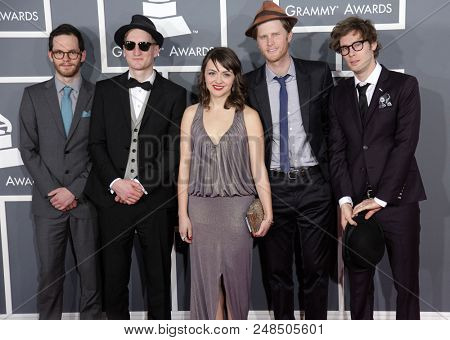 LOS ANGELES - FEB 10:  The Lumineers arrives to the 2013 Grammy Awards  on February 10, 2013 in Hollywood, CA