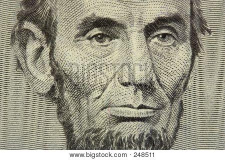 Lincoln 5 Dollar Bill