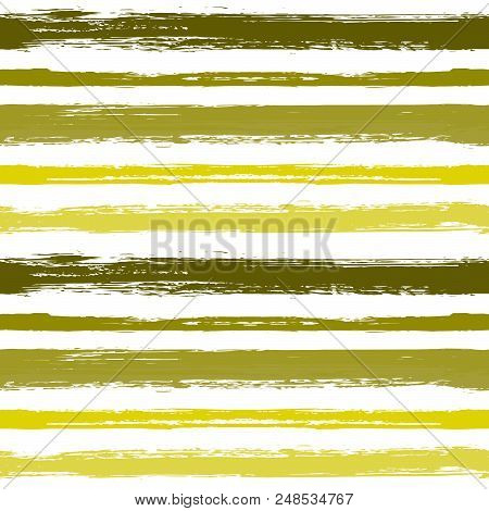Seamless Pattern With Hand Drawn Grunge Strips.paint Stripes Grunge Background Vector.  Monochrome B
