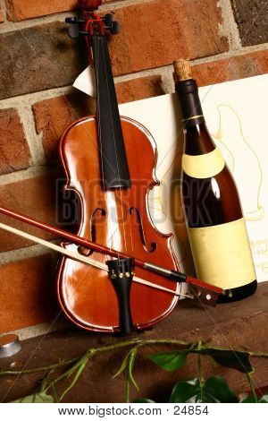 Wine Bottle And Music