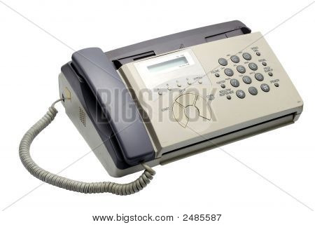 White Fax Machine