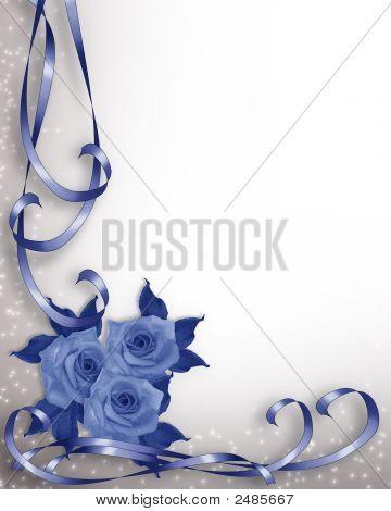 Blue Roses Valentine Or Wedding Invitation