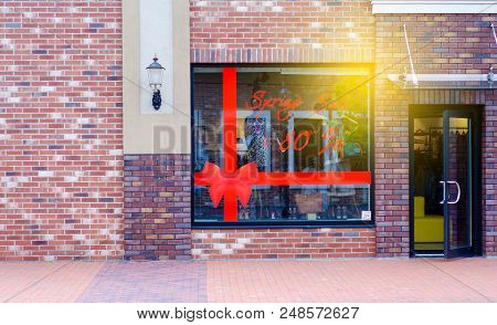 Storefront Entrance To The Store Discounts In The Road Street
