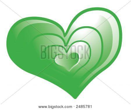 Green Valentine Heart