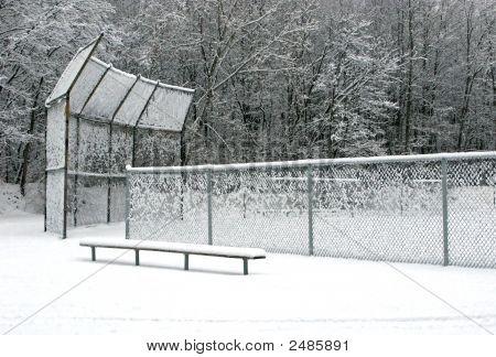 Snowy Ball Field