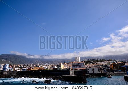 View On Puerto De La Cruz Tenerife Canary Islands Spain
