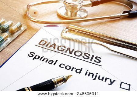 The Diagnosis Form With Spinal Cord Injury.