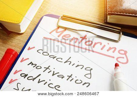 Mentoring Concept. List Of Skills For Mentor.
