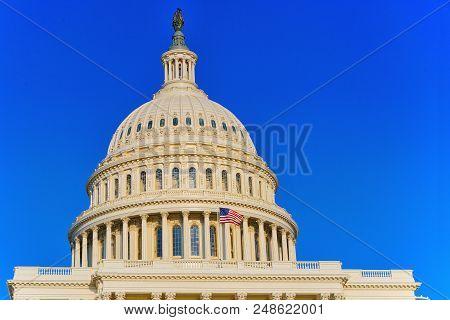 Washington, Usa, United States Capitol, Often Called The Capitol Building.