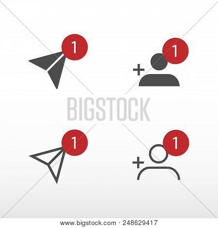 Notification Icons Social Media Notification. Vector Illustration.