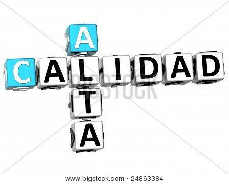 3D Alta Calidad Crossword
