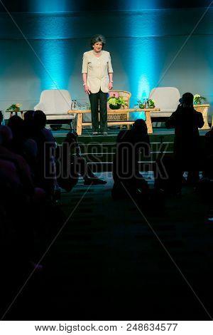 Johannesburg, South Africa, November 23,  2017, Evita Bezuidenhout Aka Pieter-dirk Uys, A South Afri