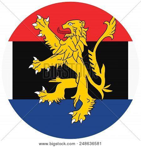 Benelux Union Flag. Luxembourg, Netherlands And Belgium
