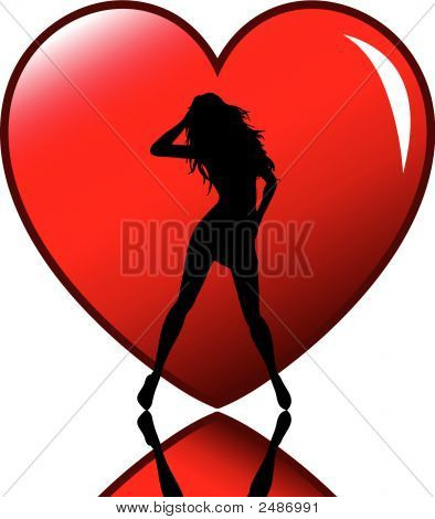Sexy Female In Heart.Eps
