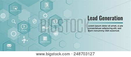 Lead Generation Web Header Banner - Attract Leads For Target Audience To Increase Revenue Growth & S