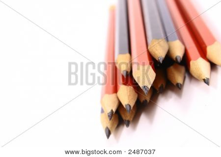 Pencil On White Isolated Background